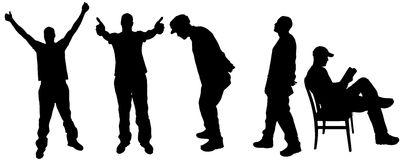 Vector silhouette men Royalty Free Stock Image