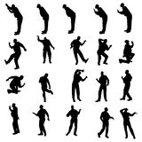 Vector silhouette of men. Royalty Free Stock Image