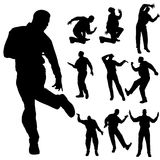 Vector silhouette of men. Royalty Free Stock Photo