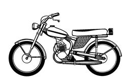 Vector silhouette moped Royalty Free Stock Images