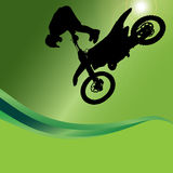 Vector silhouette of a motorcycle. vector illustration