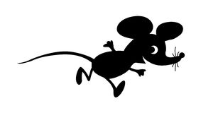 Vector Silhouette Mouse Royalty Free Stock Photography