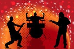 Vector silhouette musical group. Stock Photos