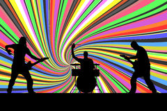 Vector silhouette musical group. Royalty Free Stock Photography