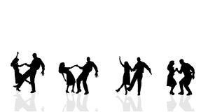 Free Vector Silhouette Of Couple. Stock Photo - 48593480