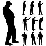 Vector silhouette of old people. Stock Photography