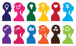 Vector silhouette people Royalty Free Stock Photo