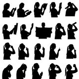 Vector silhouette of people. Vector silhouette of people in different situations Royalty Free Stock Photos