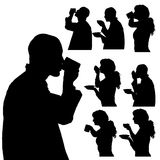 Vector silhouette of people. Vector silhouette of people in different situations Royalty Free Stock Image