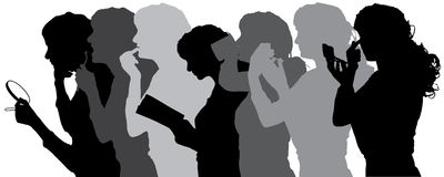 Vector silhouette of people. Vector silhouette of people in different situations Royalty Free Stock Photography