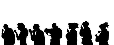 Vector silhouette of people. Royalty Free Stock Photography