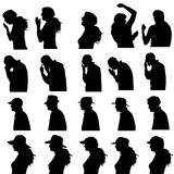 Vector silhouette of people. Stock Photo
