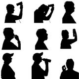 Vector silhouette of people. Vector silhouette of people in different situations Royalty Free Stock Images