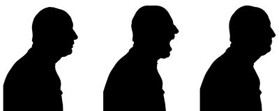 Vector silhouette of people. Vector silhouette of people in different situations Stock Photography