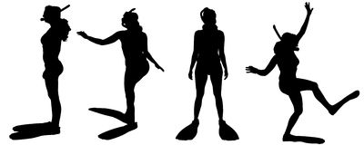 Vector silhouette of a people. Royalty Free Stock Photography