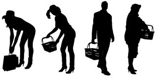 Vector silhouette of a people. Royalty Free Stock Image