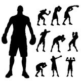 Vector silhouette of a people. Royalty Free Stock Photos