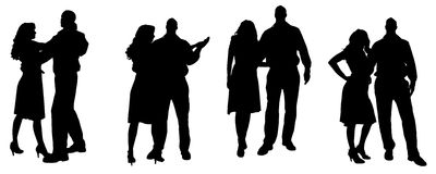 Vector silhouette of people. Royalty Free Stock Photos
