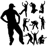 Vector silhouette of people. Royalty Free Stock Image