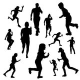 Vector silhouette of people. Royalty Free Stock Photo