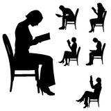 Vector silhouette of people. Royalty Free Stock Images