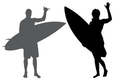 Vector silhouette of a people. Stock Image