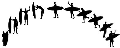 Vector silhouette of a people. Royalty Free Stock Images