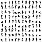 Vector silhouette of a people. Stock Photo