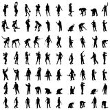 Vector silhouette of a people. Stock Photos
