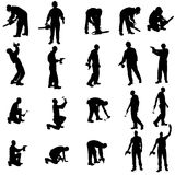 Vector silhouette of a people. Stock Photography