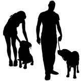 Vector silhouette of poeple. Royalty Free Stock Image