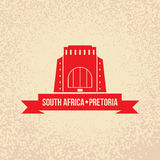 Vector silhouette of Pretoria,  South Africa. Stock Photos