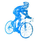 Vector silhouette of road cyclist Stock Photography