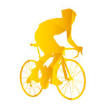 Vector silhouette road cyclists Stock Photography