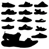 Vector silhouette of sandals. Royalty Free Stock Images