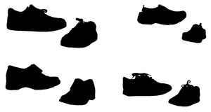 Vector silhouette of shoes. Stock Images