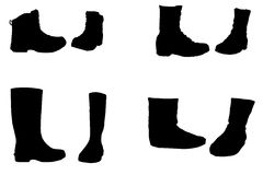 Vector silhouette of shoes. Stock Photo