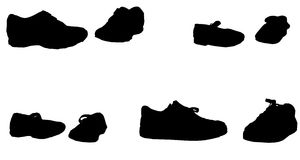 Vector silhouette of shoes. Royalty Free Stock Photos