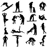 Vector silhouette of sport. Royalty Free Stock Photo