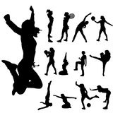 Vector silhouette of sport. Stock Photography