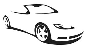 Vector silhouette sports car Stock Photos