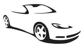 Vector silhouette sports car. Vector silhouette of a convertible sports car Stock Photos