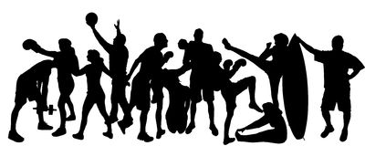 Vector silhouette of sports. Stock Photo