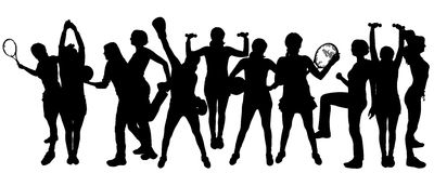 Vector silhouette of sports. Royalty Free Stock Photo