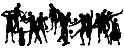 Vector silhouette of sports. Stock Image