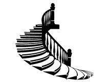 Vector silhouette stairs Royalty Free Stock Image