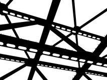 Vector silhouette of steel beams. Fragment construction site vector illustration