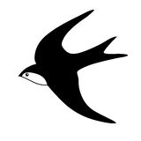 Vector silhouette of the swallow Stock Images