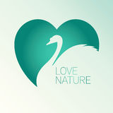 Vector Swan As Symbol Of Nature Royalty Free Stock Images