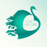 Vector Symbol Of Love Swan Royalty Free Stock Photo